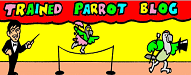 Trained parrot